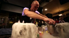 Bartenders show Stock Footage