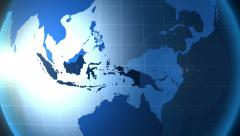 Indonesia. Zooming into Indonesia on the globe. Stock Footage