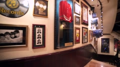 Interior view of famous Hard Rock Cafe. Stock Footage