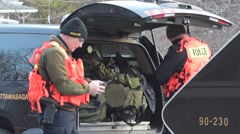 Police Search and Rescue Officers Stock Footage