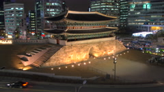 Namdaemun Great South Gate, Seoul, South Korea Stock Footage