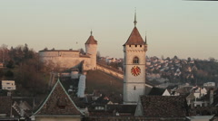 Chateau Munot and Münster Schaffhausen Stock Footage