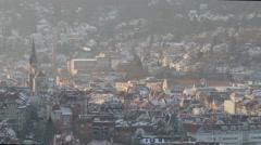 Stuttgart Skyline Timelapse Stock Footage