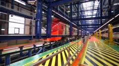 Railcar depot Stock Footage
