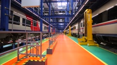 "Railcar depot ""Podmoskovnaya"" - stock footage"