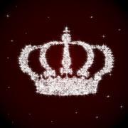Beautiful sparkling crown Stock Illustration