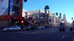 Driving Down Hollywood Boulevard  	 Stock Footage