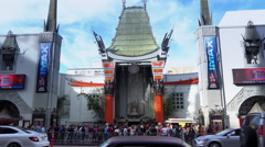 TCL Chinese Theatre Establishing Shot  		 Stock Footage