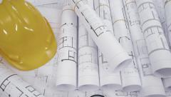 Architectural drawings background Stock Footage