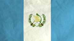 Guatemalan flag waving in the wind (full frame footage) Stock Footage