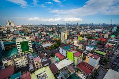View of buildings in Sampaloc, in Manila, The Philippines. Kuvituskuvat