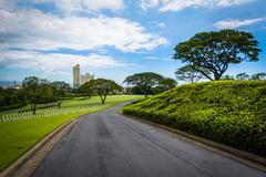 Road at the Manila American Cemetery & Memorial, in Taguig, Metro Manila, The Kuvituskuvat