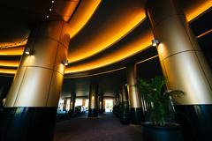 Interior architecture at City of Dreams, in Pasay, Manila, The Philippines. Kuvituskuvat