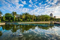 A pond at Rizal Park, in Ermita, Manila, The Philippines. Kuvituskuvat
