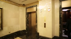 Interior view of luxury Lotte Hotel. - stock footage