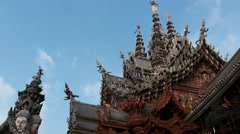 Sanctuary of truth temple dolly shot  time lapse Stock Footage