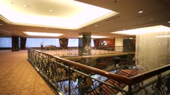 Interior view of luxury Lotte Hotel. Stock Footage