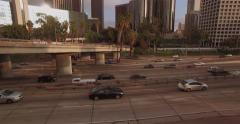 Moving With Freeway Traffic Combo 1 - stock footage