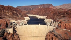 Aerial View of Hoover Dam Stock Footage