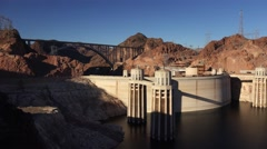 Hoover Dam in the Morning Stock Footage