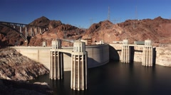Hoover Dam and Pat Tillman Memorial Bridge Stock Footage