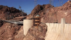The Visitor Center at Hoover Dam - stock footage