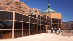 Hoover Dam Visitor Center Stock Footage