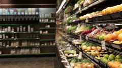 Natural Health Food Store Stock Footage
