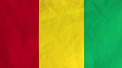 Guinean flag waving in the wind (full frame footage) Stock Footage