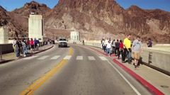 Driving Across the Hoover Dam Stock Footage