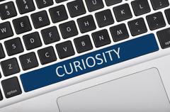 Keyboard space bar button written word curiosity - stock photo