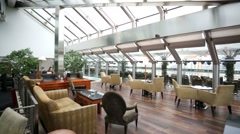 Restaurant lounge on the 10th (top) floor of the Ararat Park Hayatt hotel. Stock Footage