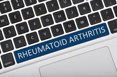 Keyboard space bar button written word rheumatoid arthritis - stock photo