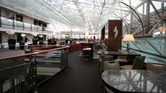 Restaurant lounge and bar on the 10th floor of the Ararat Park Hayatt hotel. - stock footage
