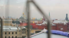 Panoramic view from Moscow Kremlin. Stock Footage