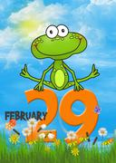 frog leapfrogging over orange  - stock illustration