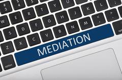 Keyboard space bar button written word mediation - stock photo
