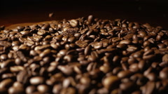 Pouring Coffee Beans Sslow Motion Stock Footage