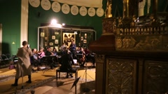 Concert of the french and italian sacred music in the early XVII. - stock footage