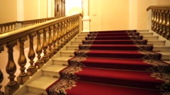 Stairs leads inside the Kremlin Armoury. Stock Footage