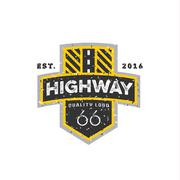 Road sign, Highway 66, high-quality brand-name brand logo vector graphics Stock Illustration