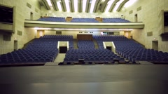 Stock Video Footage of View of empty theatre hall with comfortable seats. ZIL Cultural Center.