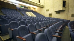 Stock Video Footage of View of empty theatre hall with comfortable seats.