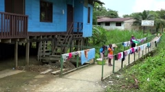 Stock Video Footage of Drying clothes in colombia choco