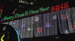 2015 New Year Light Decoration Stock Footage
