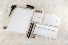 Stationery and ID template Stock Photos