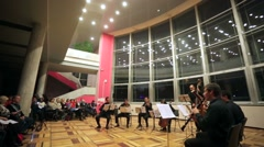 "Concert ""Schubert-gala"" during ""Night of Music 2015"" in a ZIL Cultural Center. - stock footage"
