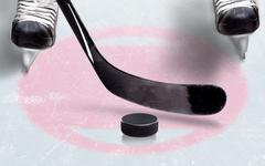 Ice Hockey Face Off Spot With Copy Space Stock Photos