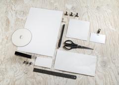 Blank stationery mockup Stock Photos