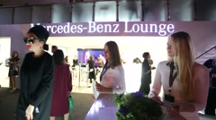 Vip lounge at Mercedes-Benz Fashion Week Russia. Stock Footage